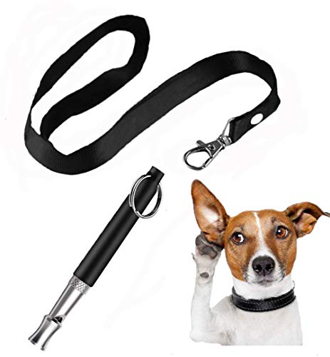 ABWIOZ Professional Dog Whistles to Stop Barking, Ultrasonic Silent Dog Whistle Adjustable Frequencies, Effective Way of Training, Dog Whistle for Recall Training with Free Lanyard (Best Way To Stop Dog Barking)