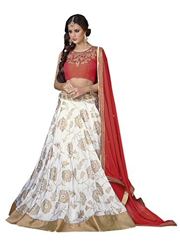 PCC Womens White Color Striking Lehenga Choli With Printed Work 83884