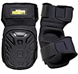 Extra Mighty Professional Knee Pads - Heavy Duty Foam Padding and Gel Cushion - Non Slip Adjustable Double Straps Without Clips That Snap Off