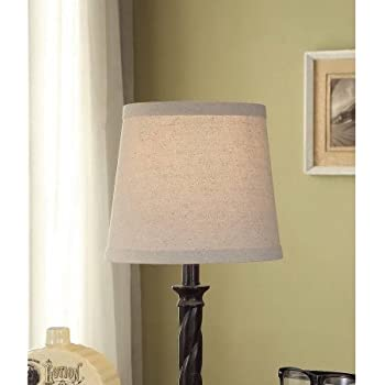Mainstays Textured Accent Lamp Shade Beige Solid Linen
