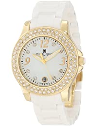Charles-Hubert, Paris Women's 6789-W Premium Collection Ceramic and Stainless Steel with Swarovski Crystal Watch