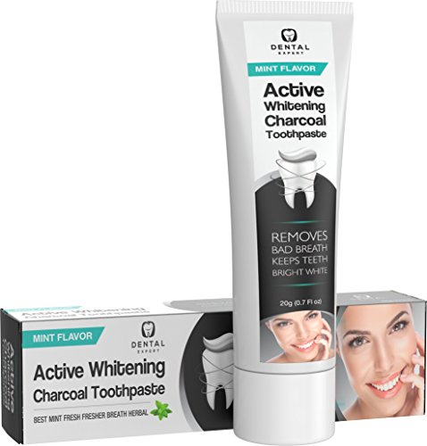 Dental Expert Activated Charcoal Teeth Whitening Toothpaste - Mint Flavor - (0.7 fl oz) by Dental Expert (Image #5)