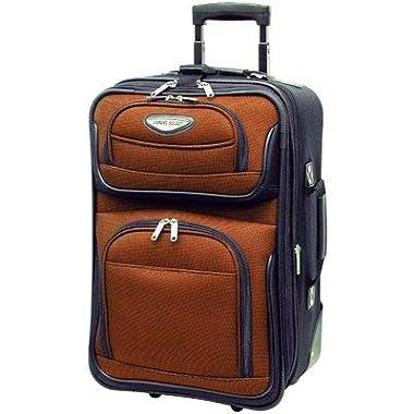 Traveler's Choice Amsterdam 4-Piece Luggage Set (Orange)
