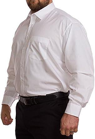 Rael Brook Big para Hombre Manga Larga Camisa Blanca 19
