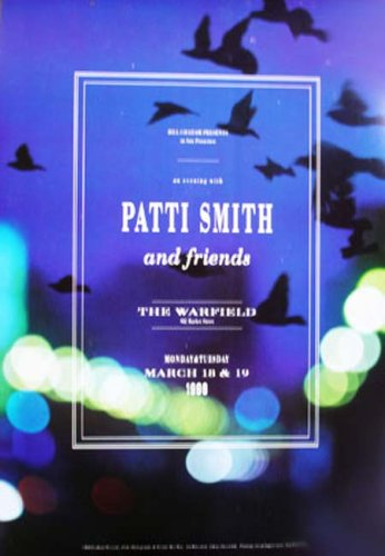 Patti Smith Warfield Original Concert Poster BGP138