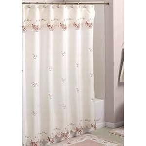 Verona Embroidered Shower Curtain Home Kitchen