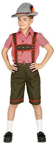 Boys Bavarian Lederhosen Oktoberfest Hansel and Gretel Fairy Tale World Book Day Week Fancy Dress Costume Outfit 5-12 Years (5-6 Years) ()