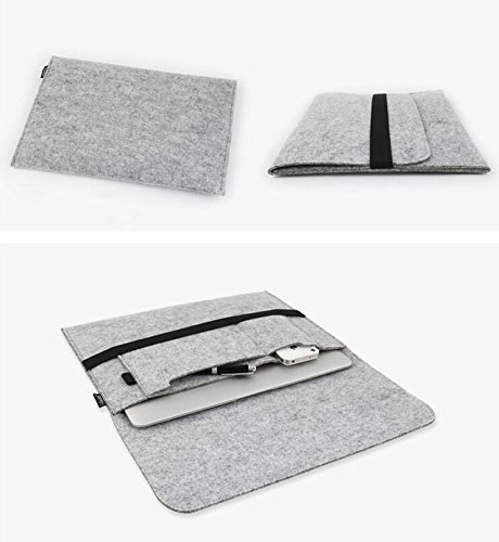 For Apple Mac MacBook Wool Felt Sleeve Gray Laptop Case Cover Bag Air Pro - Usa Shoping
