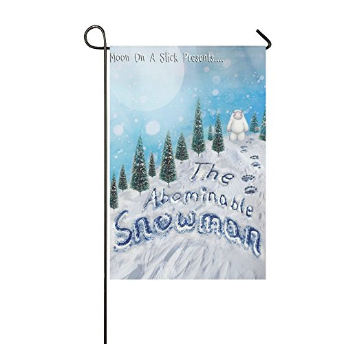 Abominable Snowman Christmas (Rossne G sun Garden Flag The Abominable Snowman Moon On A Stick Presents Decoration Double Sided Flag 28 x 40 Inch)