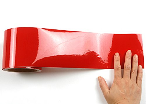 Peel stick flame retardant border sticker high glossy for Solid color peel and stick wallpaper