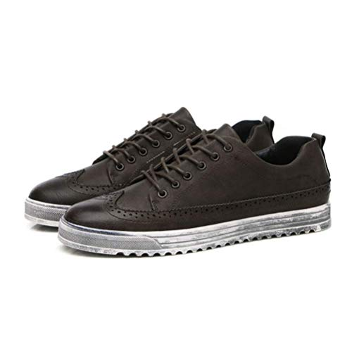 Zapatos para LYZGF Ocio De Moda Cuero Jóvenes De Reddishbrown Hombre De Zapatos IZwSqS5
