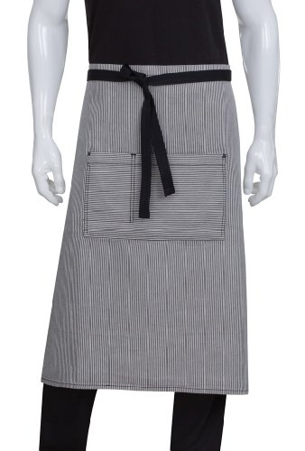 Chef Works Unisex Portland Bistro Apron, Black, One Size