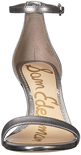 Leather Pewter Scarpe Donna col Metallic Tacco EdelmanPatti Sam nvq10wCpq