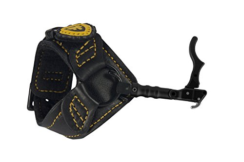 TruFire Chicken Wing Adjustable Archery Compound Bow Release with Interchangeable Trigger - Plush Black Wrist Strap