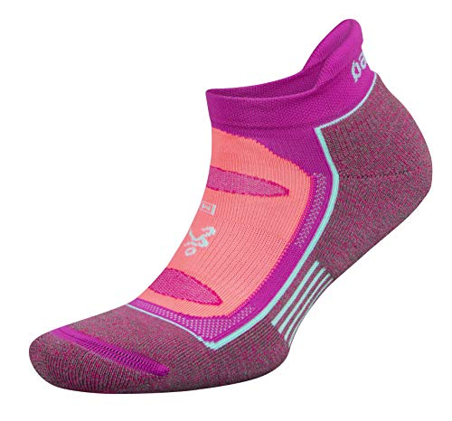 Balega Blister Resist No Show Socks for Men and Women (1 Pair), Lilac Rose/Electric Pink, Large