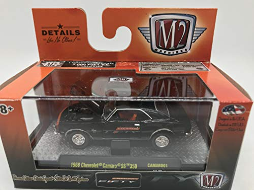M2 Machines Camaro Fifty Premium Edition 1968 Chevrolet Camaro SS 350 1:64 Scale CAMARO01 17-39 Black Details Like NO Other! Over 42 Parts 1 of 3000
