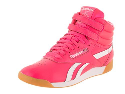 Reebok Freestyle HI SU Women's Shoes Acid Pink/White cn7150 (7 B(M) US) ()