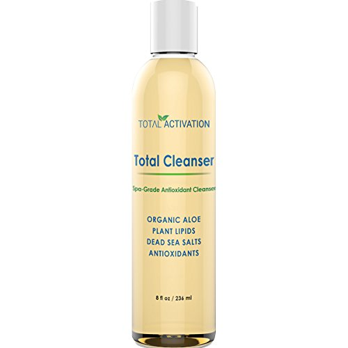 Total Wash Face - Natural Face and Body Exfoliator and Cleanser Gel, Gentle Daily Wash to Exfoliate Skin, Anti-Aging Facial Moisturizer Helps Men and Women with Dry, Oily or Sensitive Skin get that Extra Glow, 8 oz