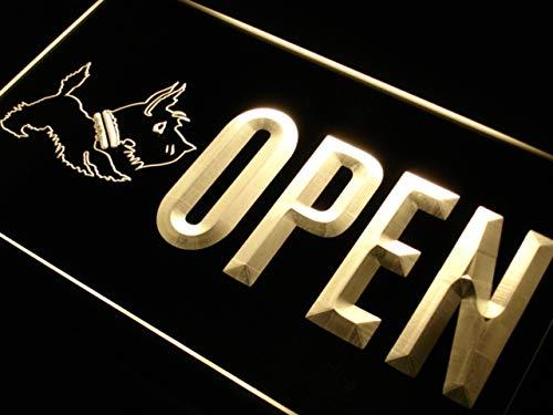 ADVPRO Open Scottie Dog Shop Pet LED Neon Sign Yellow 16 x 12 Inches st4s43-j861-y