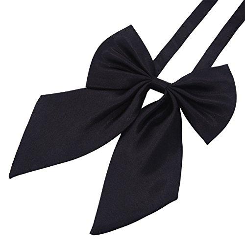 GZZOU Women BowTie, Ladies Girls Fashion Solid Color Pre-Tied Silk Bow Necktie