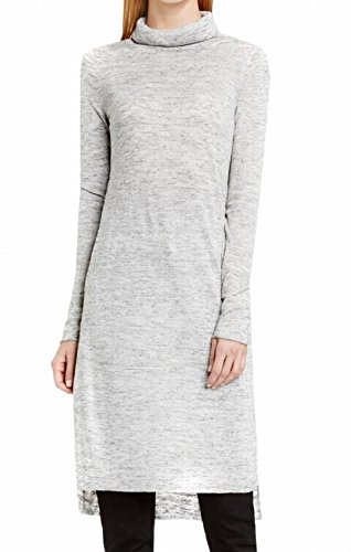 Womens Large Cowl-Neck Tunic Top Gray L (Vince Cowl Neck)