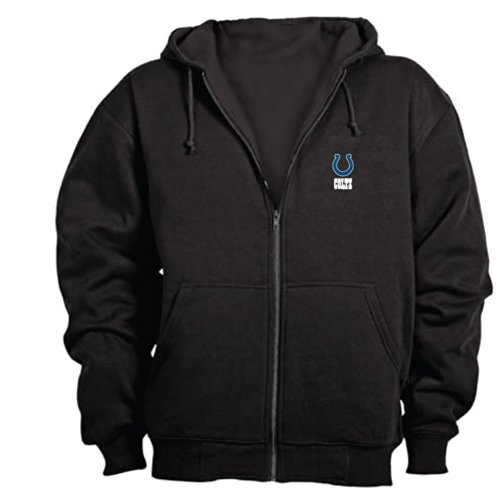 Dunbrooke NFL Craftsman Full Zip Thermal Hoodie, Indianapolis Colts - Large University Full Zip Hoodie