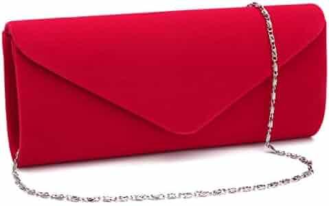 d77354f5d Gesu Wedding Party Velvet Envelope Clutch Evening Purses for Women Formal.