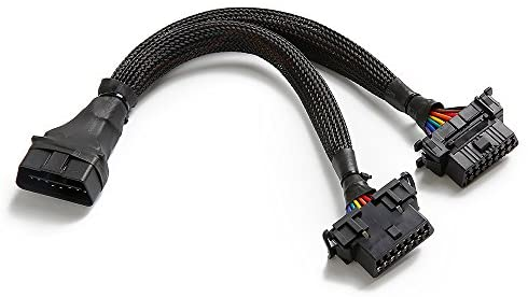 bbfly-B6 OBD II OBD2 16 Pin Verlängerung Male auf Dual Female Verlängerungskabel Adapter (30cm)