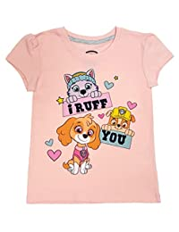Nickelodeon JR Paw Patrol - Toddler Girls' 'I Ruff You' T-Shirt, Light Pink