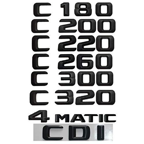 For Mercedes Benz C Class C43 C63 AMG 200 C220 C260 C300 C320 C350 4MATIC CDI Trunk Emblem Badge Black Letters Emblems W204 W205 (C260)
