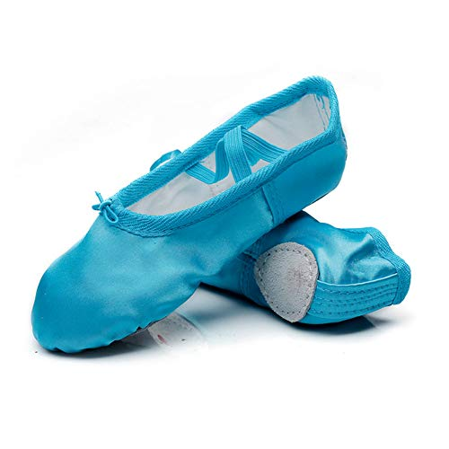 Blue Glitter Shoes For Girls - MSMAX Girls Ballet Shoes Satin Performa