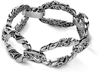 b1685d38db3 Carolyn Pollack Sterling Silver Open Scroll Rope Link Bracelet Size S, M or  L