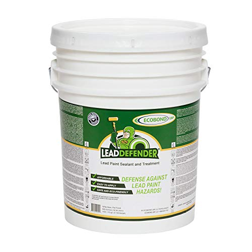 ECOBOND LBP Lead Defender Seal & Treat Lead Paint ECO-LBPLD-1005-LD ECOBOND Defender Lead Based Paint Treatment and Sealant, 5 Gallon, White, 5 Gallons - Lead Paint Dust
