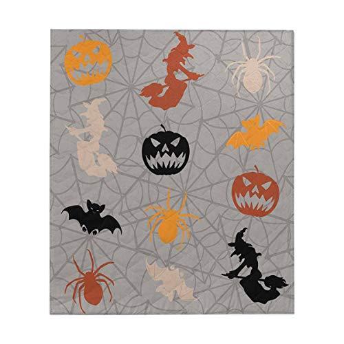 INTERESTPRINT Cartoon Halloween Witch Comforter Thin Quilt Lightweight Comforter ()