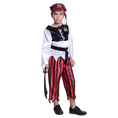 Toddler Boys Childs Kids Bucaneer Pirate Captain Caribbean