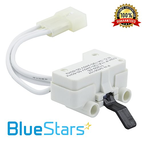 3406107 Dryer Door Switch Replacement part by Blue Stars - Exact fit for Whirlpool & Kenmore Dryer