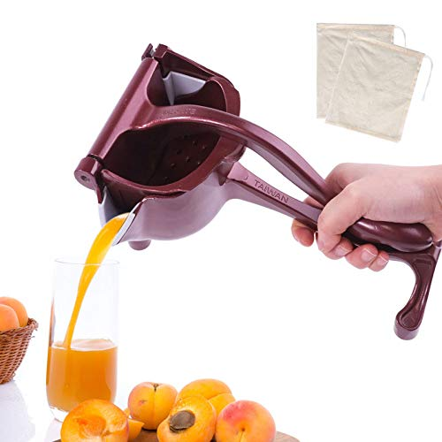 SHANGPEIXUAN Manual Fruit Juicer Alloy Lemon Squeezer Citrus Press Heavy Duty Hand Press Detachable Lime Squeezer