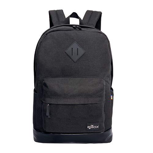 EBOX 2-Layer School Backpack Laptop Rucksack Fits 14 15 15.6