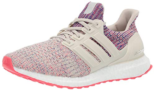 adidas Women's Ultraboost, Clear Brown/Shock red/Active Blue 10.5 M US
