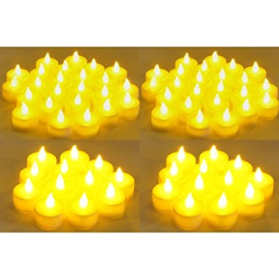 Instapark LCL-144 Battery-powered Flameless LED Tealight Candles, 12-Dozen Pack