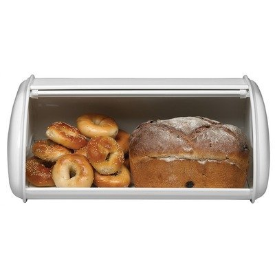 Deluxe Solid Color Bread Box Color: Black from Polder