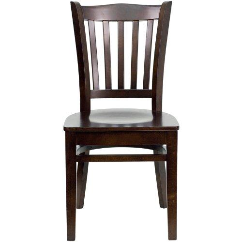 Flash Furniture HERCULES Series Vertical Slat Back Mahogany Wood Restaurant Chair by Flash Furniture (Image #3)