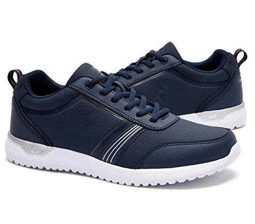 GRRONG Hommes Souliers Automne Chaussures de Sport Chaussures de Sport Coréenne Darkblue LcIfV