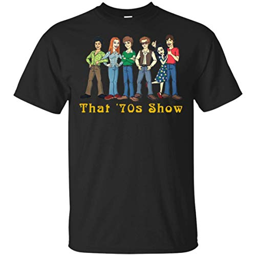 BOTEE That 70s Show Tee for Men Women Unisex T-Shirt Black
