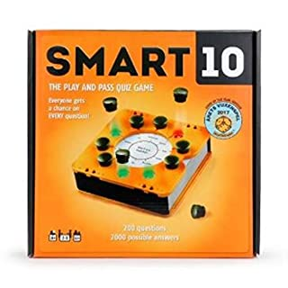 Smart 10 Pass and Play Trivia Game | Perfect Family Board Game for The Holidays