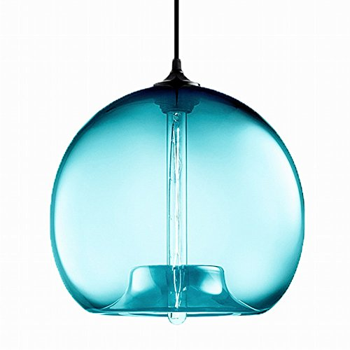 Aqua Glass Pendant Light in Florida - 8