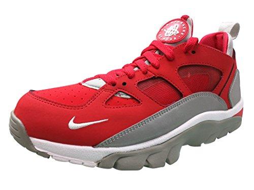 Nike Herren Air Trainer Huarache Low Laufschuhe, Rot / Weiß / Silberfarben (Unvrsty Rd / White-Mtllc Slvr-Mt), 41 EU