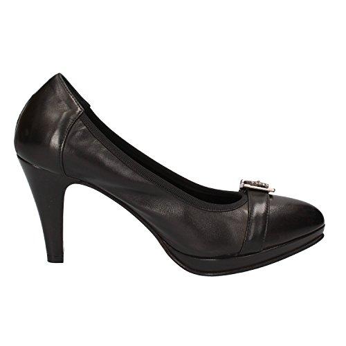 CALPIERRE Zapatos de Salón Mujer 35 EU Negro Cuero AD571