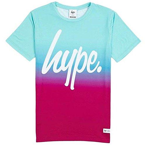 Hype T-Shirt Blue Fade, Größe XL, blau