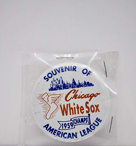 1959 - Souvenir of Chicago White Sox 1959 Champs American League - Pin Back Button - 2.25 Inch Diameter - Collectible